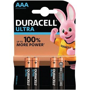 Pacco da 4 pile Duracell Ultra Power