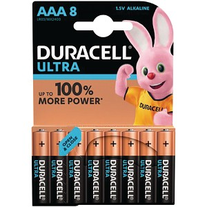 Pacco da 8 pile AAA Duracell Ultra Power