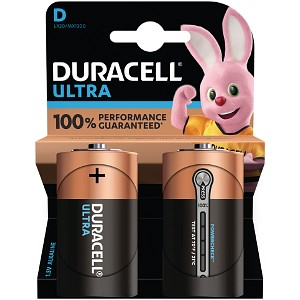 Pacco da 2 Duracell Ultra Power D