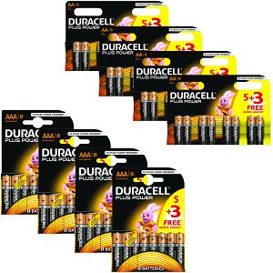 Pacco da 64 pile Duracell Plus Power AA & AAA