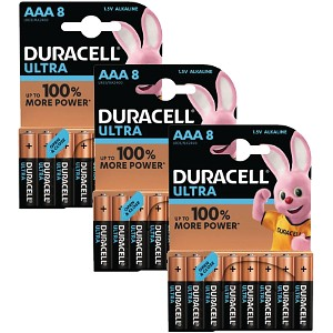 Pacco da 24 AAA Duracell Ultra Power