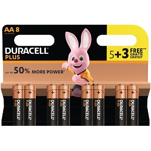 Image of Duracell Pacco da 5 pile AA+ 3 Gratis (MN1500B5+3)