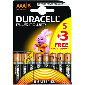 Image of Pacco da 5 Duracell Plus Power + 3 Gratis (MN2400B5+3)