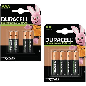 Pacco 8 Pile AA & AAA Duracell Pre-Charged