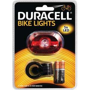 Luce posteriore Duracell 5 LED per bicicletta