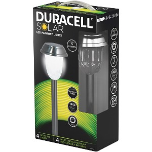 Solar LED Garden Lights - Pack of 4