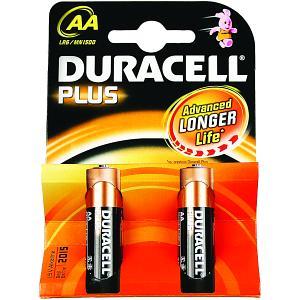 Image of Pile Duracell Plus AA (Confezione da 2) (MN1500-X2)