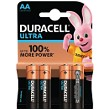 Pacco da 4 AA Duracell Ultra Power
