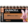 Pacco da 16 pile AAA Duracell Plus Power